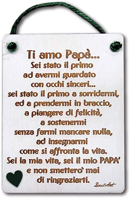 DaclArt Plaque en Bois avec Inscription /« Ti Amo Pap/à tgp-13 /» Fabriqu/ée en Italie