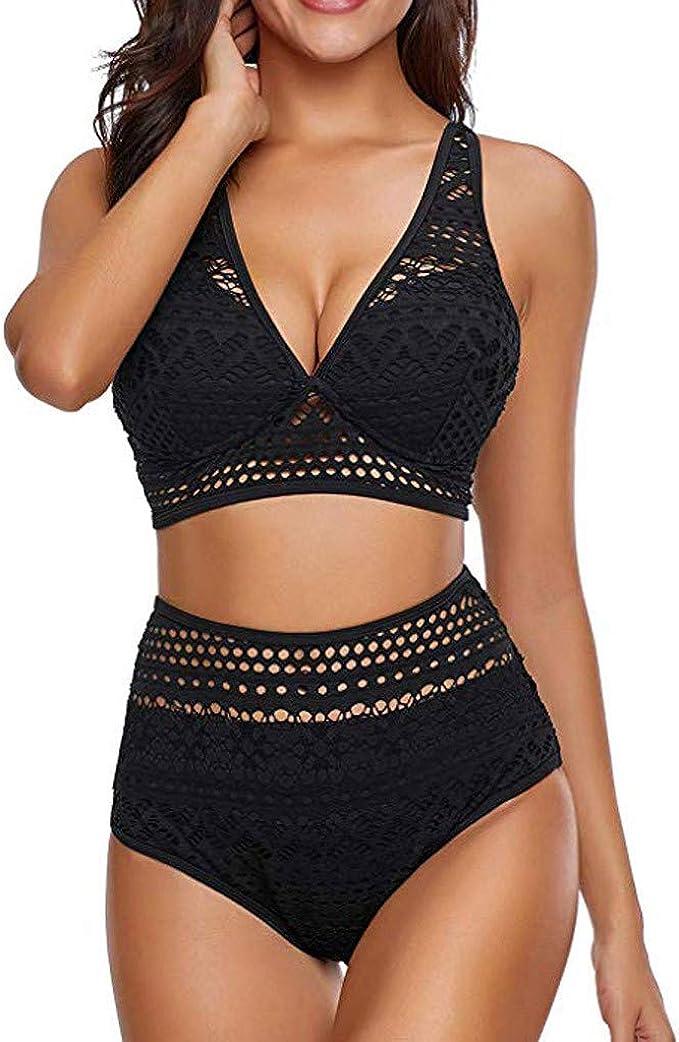 Cuello Colgando, Malla de Perspectiva Sexy, Bikini brasileño niña Push up Bodys Mono Bañador para Hombre Traje de baño Mujer Cintura Alta Traje de baño Deportivo Mujer Bikinis Sexy de Mujer una