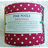 Siambeads Patchwork Quilt Stoffe, Precut, Jelly Roll, Baumwolle, Pixie Pixels