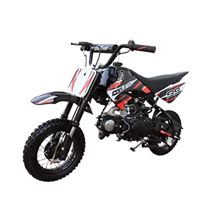 94f5bb5e3e5 Coolster Kids Mini Dirt Bike 70cc Youth Gas Pit Bike Semi-Automatic 4-Speed