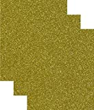 Arts & Crafts : Siser Glitter Heat Transfer Vinyl HTV for T-Shirts 10 by 12 Inches (1 Foot) Sheets 3 Pack (Gold)
