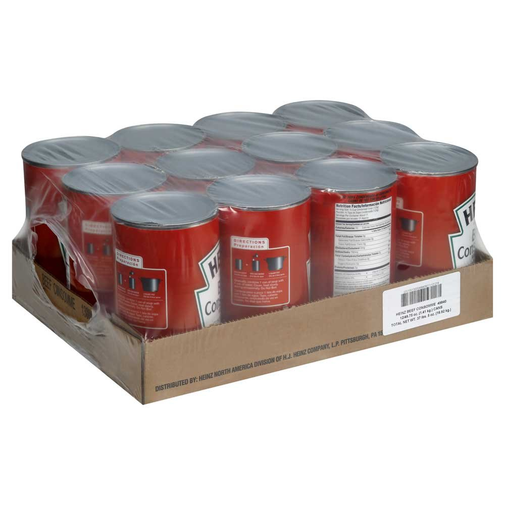 Heinz Condensed Beef Consomme with Gelatin - 49.75 oz. can, 12 per case