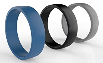 Non Metal Wedding Bands >> Amazon Com Silicone Wedding Ring For Men Not Bulky Premium Quality