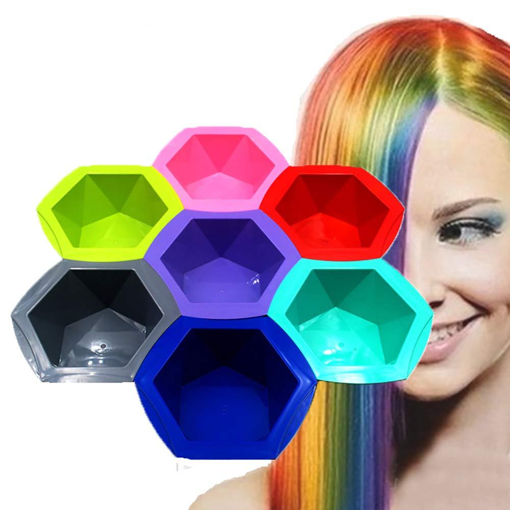 Hongma 7-Color Rainbow Home DIY Hair Coloring Dye Brush and Bowl Set by Hongma