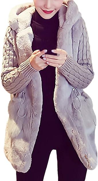 Mujer Cardigans Con Capucha Tallas Grandes Invierno Abrigos De Pelo Fashionista Manga Larga Chaquetas Elegantes Abiertas Jerseys Mas Grueso Marca De Punto Hoodie Chicas Sueter Amazon Es Ropa Y Accesorios