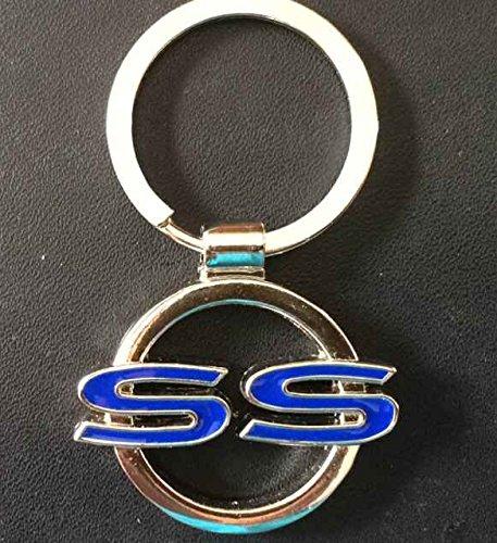super-sport-ss-chromed-keychain-for-chevrolet-blue