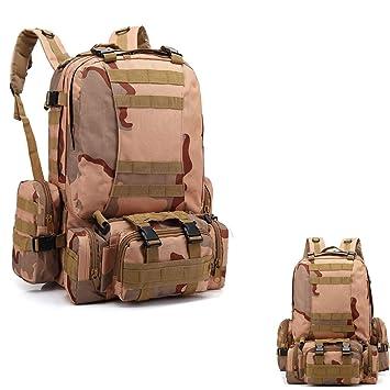 Mochila táctica militar, mochila militar grande de 55L con 3 ...