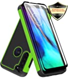 Moto G Stylus Case with Tempered Glass Screen Protector [2 Pack], Dahkoiz Armor Defender Cover Motorola Moto G Stylus Case Dual Layer Hybrid Protective Phone Case for Motorola Moto G Stylus, Green