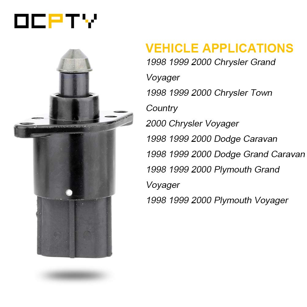 OCPTY 2H1096 Fuel Injection New Idle Air Control Valve FIT for Chrysler Grand Voyager//Town Country//Voyager 1998-2000 Plymouth Grand Voyager//Voyager Dodge Caravan//Grand Caravan