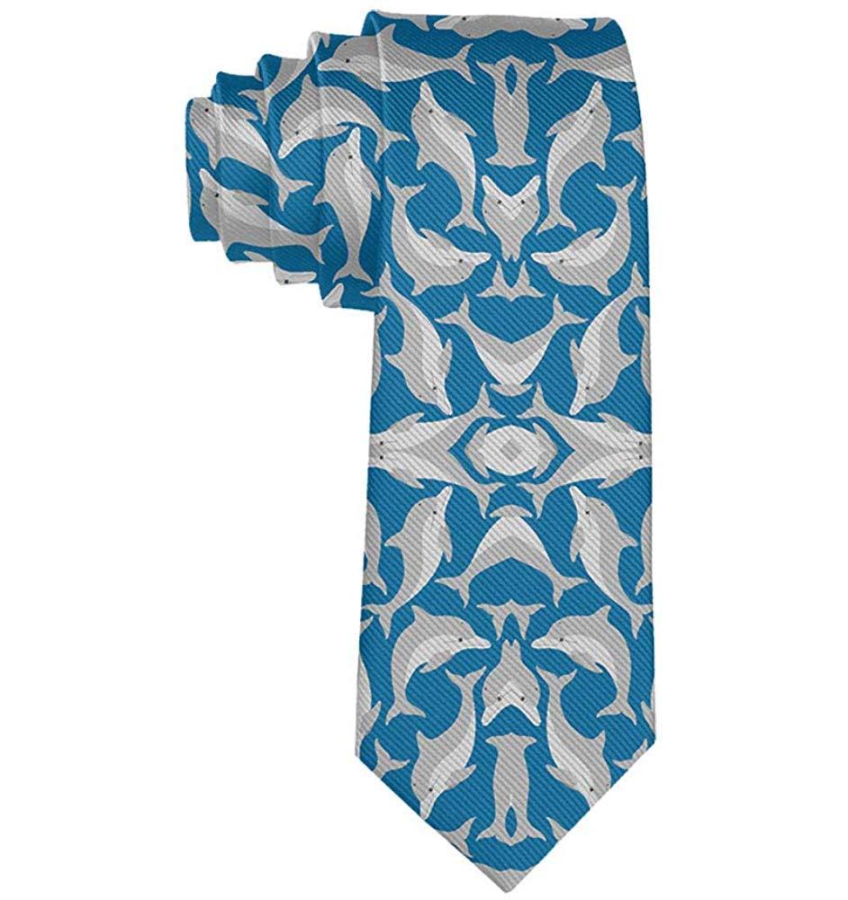Blue Sea Dolphins Prom Costume Tie Corbatas de boda Corbata ...