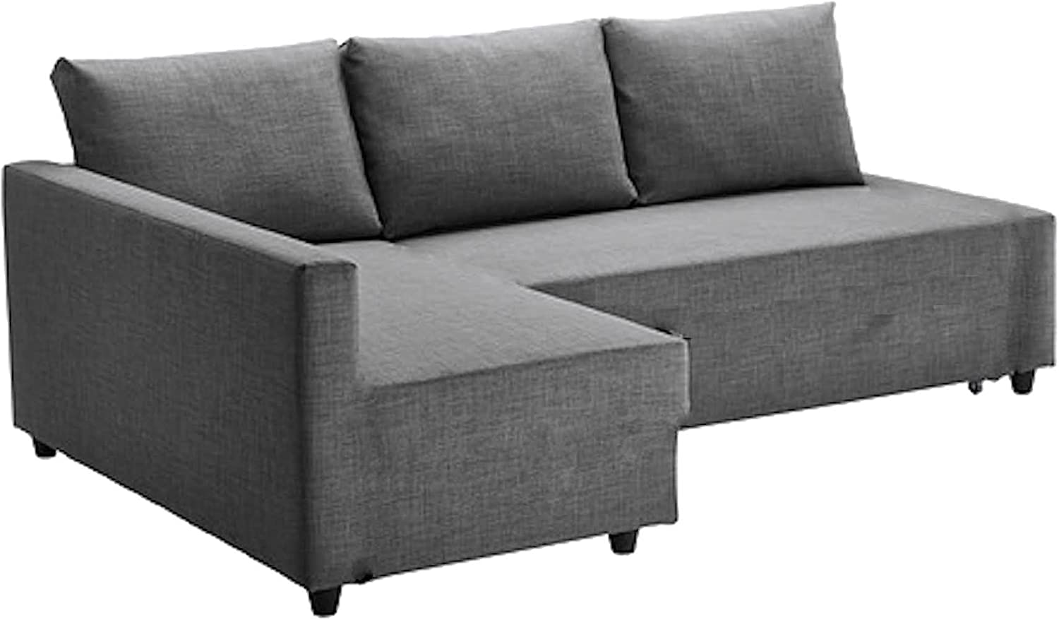 The Friheten Sleeper Thick Cotton Sofa Cover Replacement is Custom Made Compatible for IKEA Friheten Sofa Bed, Or Corner, Sectional Slipcover. Cover Only! (Light Gray Longer Right CoLigh)