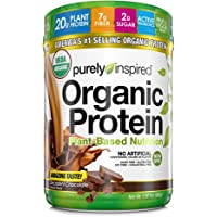 Purely Inspired Organic Protein Shake Powder, 100% Plant Based with Pea & Brown Rice Protein (Non-GMO, Gluten Free, Vegan Friendly), Decadent Chocolate, 1.5 Pound (Pack of 1)