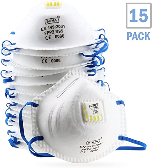 With Respirator Niosh Mask N95 Particulate Certified Safety Dcm