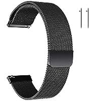Quick Release Horlogeband,Mesh Geweven Metalen Horlogeband met Magnetische Sluiting voor Mannen en Vrouwen, Universele…