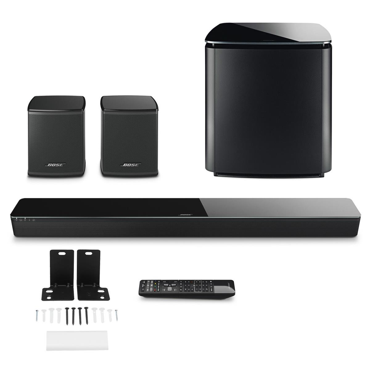 Bose SoundTouch 300 Soundbar w/ WB300 Wall Bracket & Wireless Acoustimass 300 Bass Module & Wireless Surround Speakers - Bundle by Bose