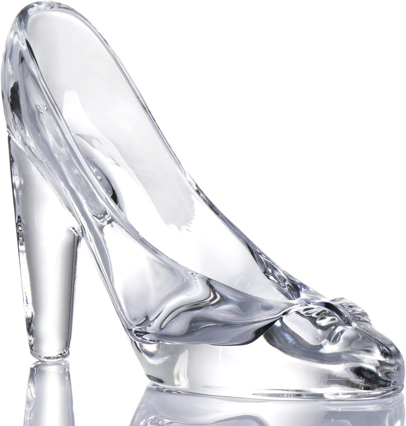 Tiktalk Cinderella Glass Slipper Crystal High Heels Shoes Figurine Ornaments for Girls Coming-of-Age Ceremony Gift Birthday Party Decorations