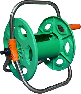 "Extension Cords Storage Reel, Garden Hose Reel Cart PP Outdoor Tote or Wall Mount Hose Reel,Durable Hose Storage Reel with Stainless Steel Handle,Store Up to 20~40M(1/2"") Hose"