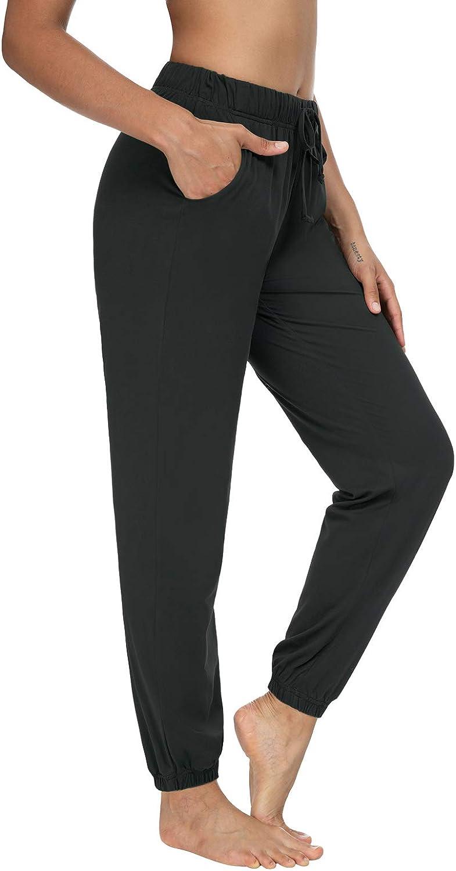 Sarin Mathews Womens Joggers Yoga Sweatpants Loose Comfy Workout Drawstring Lounge Pants for Women with Pockets
