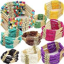 Generic ZOCA_Bohemian_Charming_ Beaded _Bangle_ Bracelet _Multilayer_Womens_Fashion_ Jewelry #NUN Bracelet Charm Bead Bangle