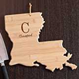 "Product review for Personalized Family Initial Louisiana State Cutting Board, 12""x13"", Bamboo"