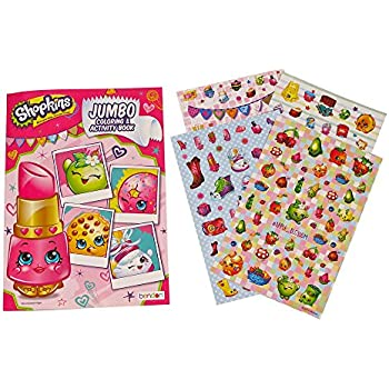 Shopkins Coloring Book and Stickers by Little Boogers