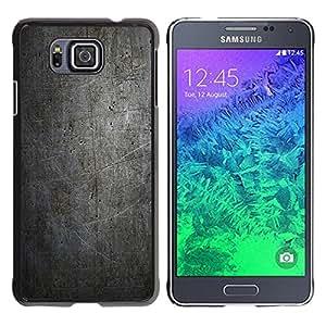 LECELL--Funda protectora / Cubierta / Piel For Samsung ALPHA G850 -- NEGRO MODELO DEL GRUNGE DE LA VENDIMIA --