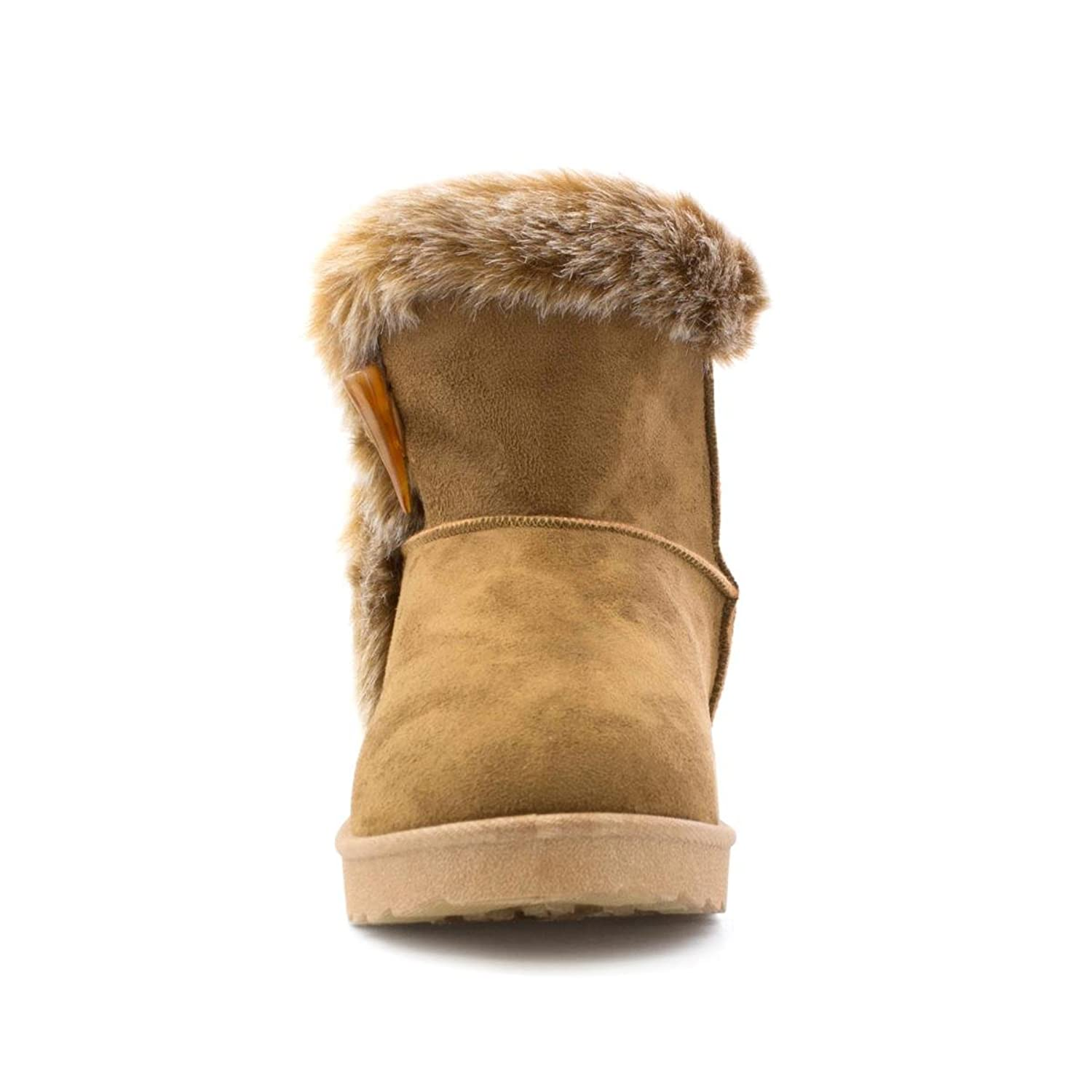 Lilley Womens Chestnut Faux Suede Ankle Boot - Size 9 UK - Beige:  Amazon.co.uk: Shoes & Bags