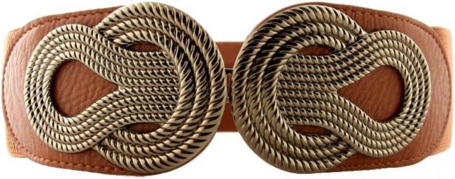 حزام خصر مطاطي عريض للسيدات من VOCHIC للفساتين، أحزمة قابلة للتمدد مع إبزيم متشابك