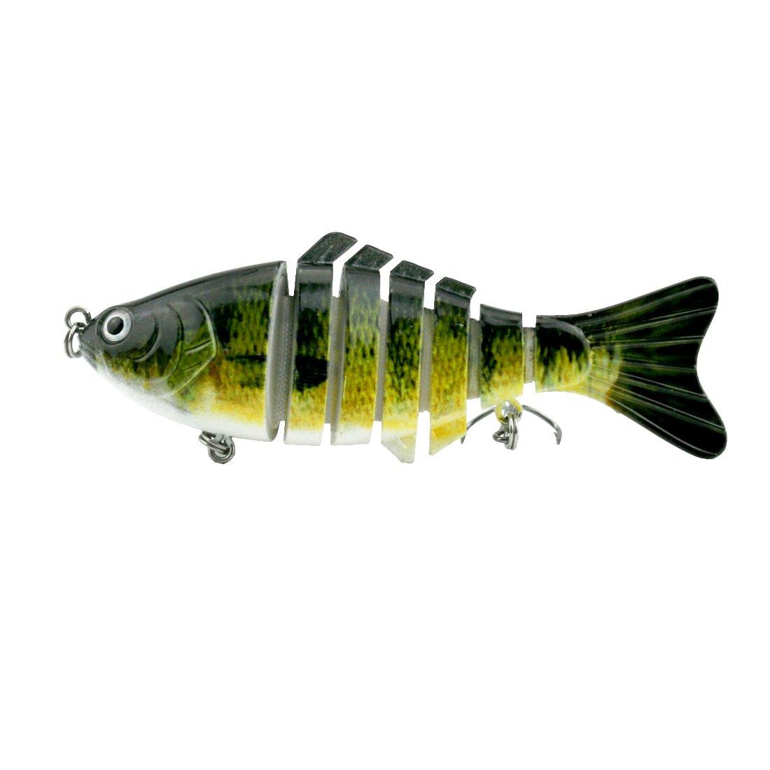 Modenpeak HJ-7S03 7 Segment Swimbait Lures Crankbaits Baits Hard Bait Fishing Lures 4'' 0.8oz by Modenpeak (Image #4)