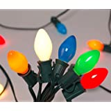 Christmas Lights (25FT) Goothy 5 Multi-Color Outdoor & Indoor Light for Christmas Holiday Party Wedding etc,25 Ceramic…