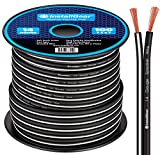 InstallGear 14 Gauge AWG 100ft Speaker Wire Cable - Black