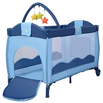 Portable Infant Child Baby Travel Cot Bed Playpen Bassinet Entryway Foldable US