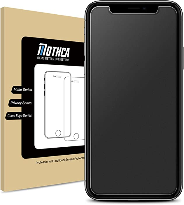 Mothca Matte Screen Protector for iPhone XR/iPhone 11 Anti-Glare & Anti-Fingerprint Tempered Glass Clear Film Case Friendly 3D Touch Easy Install Bubble Free for iPhone XR/iPhone 11- Smooth as Silk