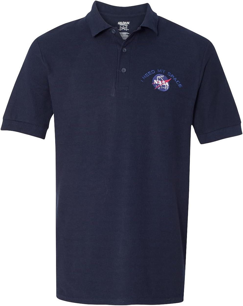 Mens I Need My Space NASA Embroidered Premium 100/% Cotton Shirt