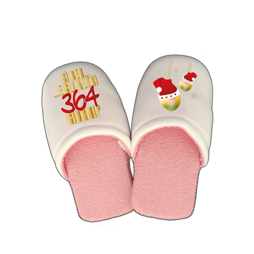Ciabatte per Uomo e Donna Pantofole Natalizie Personalizzate Gli Altri 364 Giorni