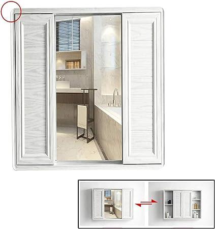 Armarios con espejo Gabinete Aluminio del Espacio Espejo Gabinete Cuarto De Baño De Pared Espejo Gabinete Objetivo De Pared Gabinete Doble Puerta Corrediza Muebles de baño: Amazon.es: Hogar