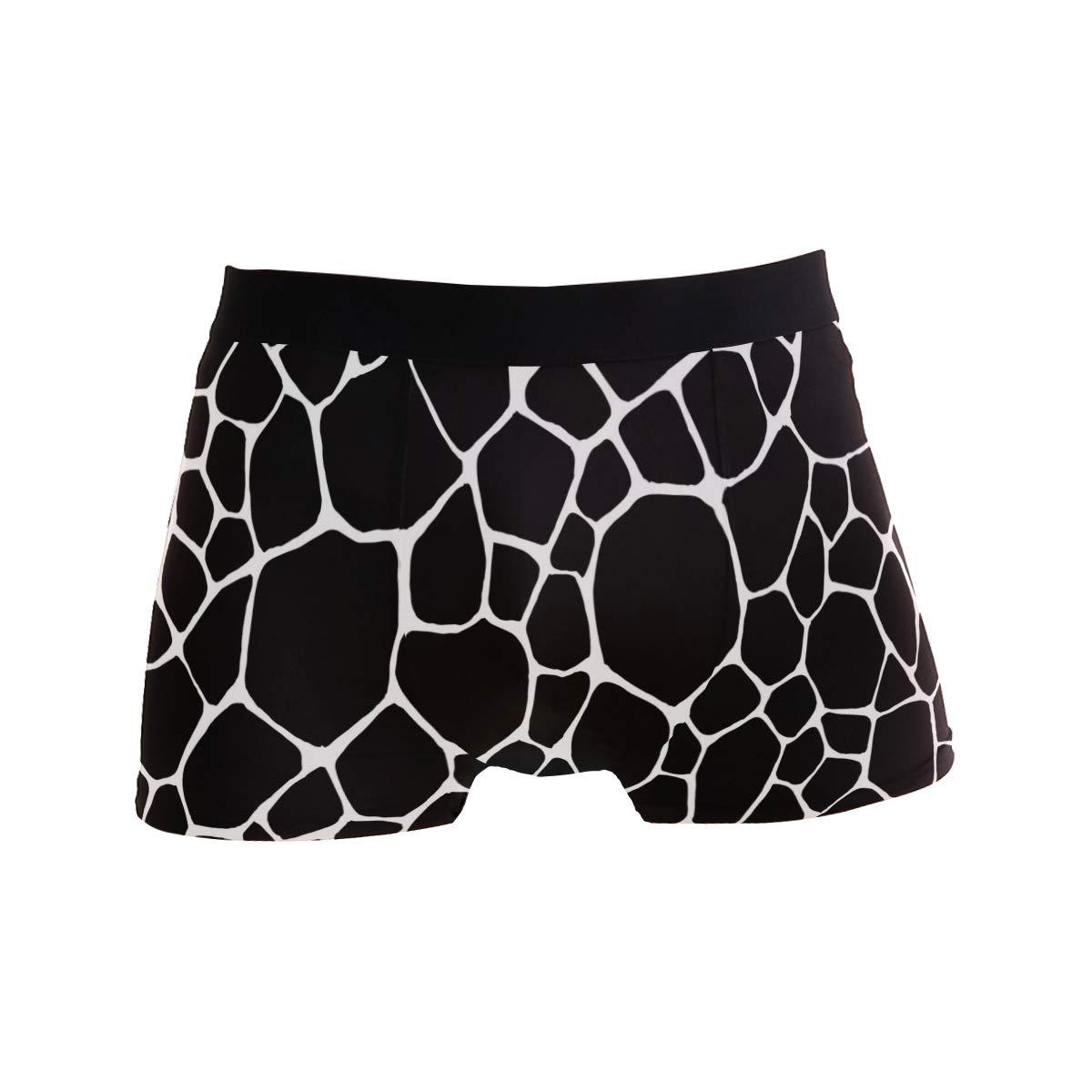 BETTKEN Mens Boxer Briefs Geometric Animal Giraffe Print Short Underwear Soft Stretch Underpants for Men Boys S-XL