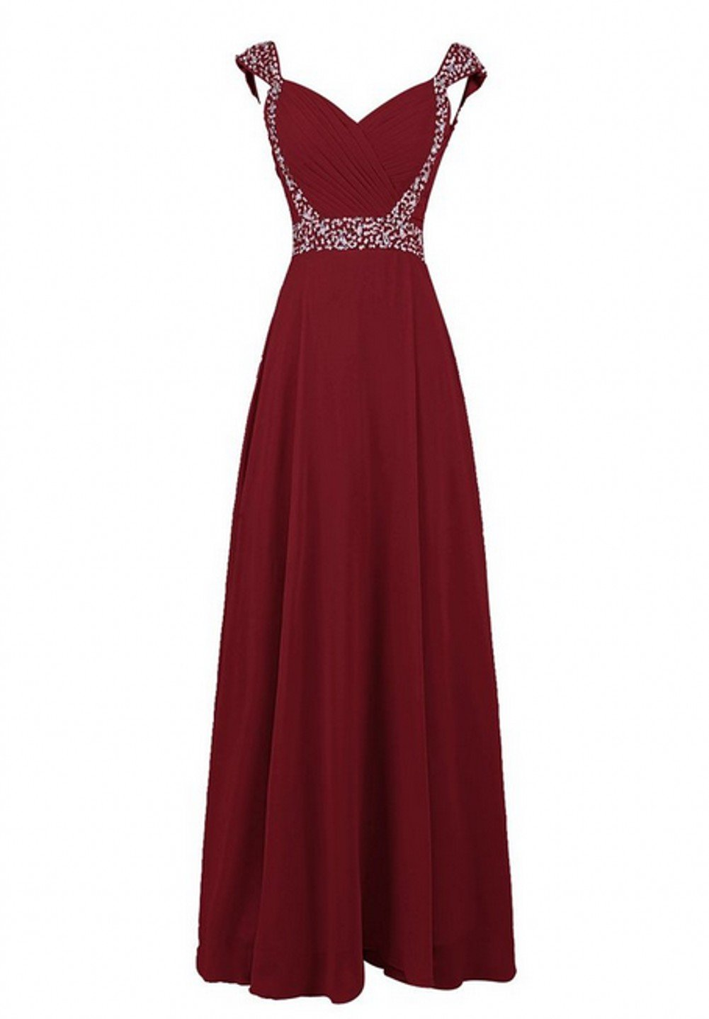 Love Dress V Neck Long Bridesmaid Dress Prom Party Gown Burgundy Us 26w