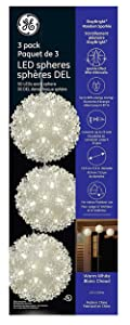 GE StayBright Energy Smart Random Sparkle 50 Effect LED Spheres, 3 Pack, 50ct, Warm White