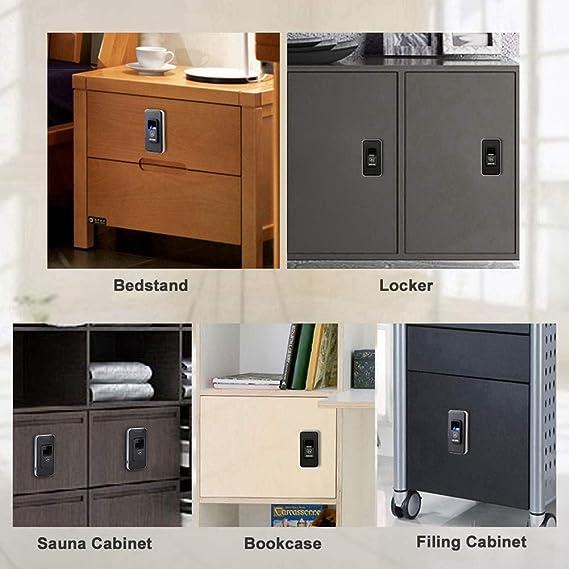 Tangxi Fingerprint Cabinet Lock ZW06 Inteillgent Doble Cerradura de Huella Digital para Caj/ón Zapato de Taquilla,Controlador de Armario de Oficina