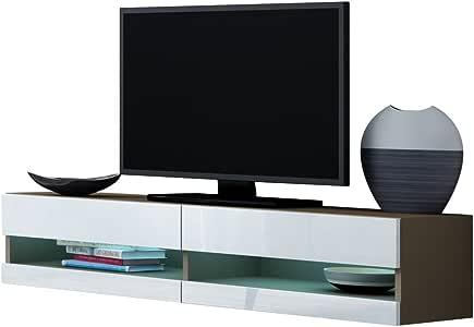 mirjan24 TV tarjeta Vigo New 140, TV Mesas, TV LOWBOARD, TV Armario Armario de televisión, muebles, brillante: Amazon.es: Juguetes y juegos