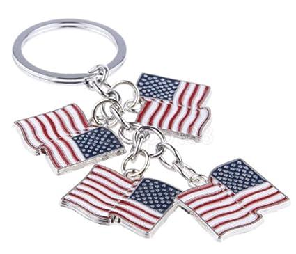 Estados Unidos US Americano País Bandera Keychain patrio de ...