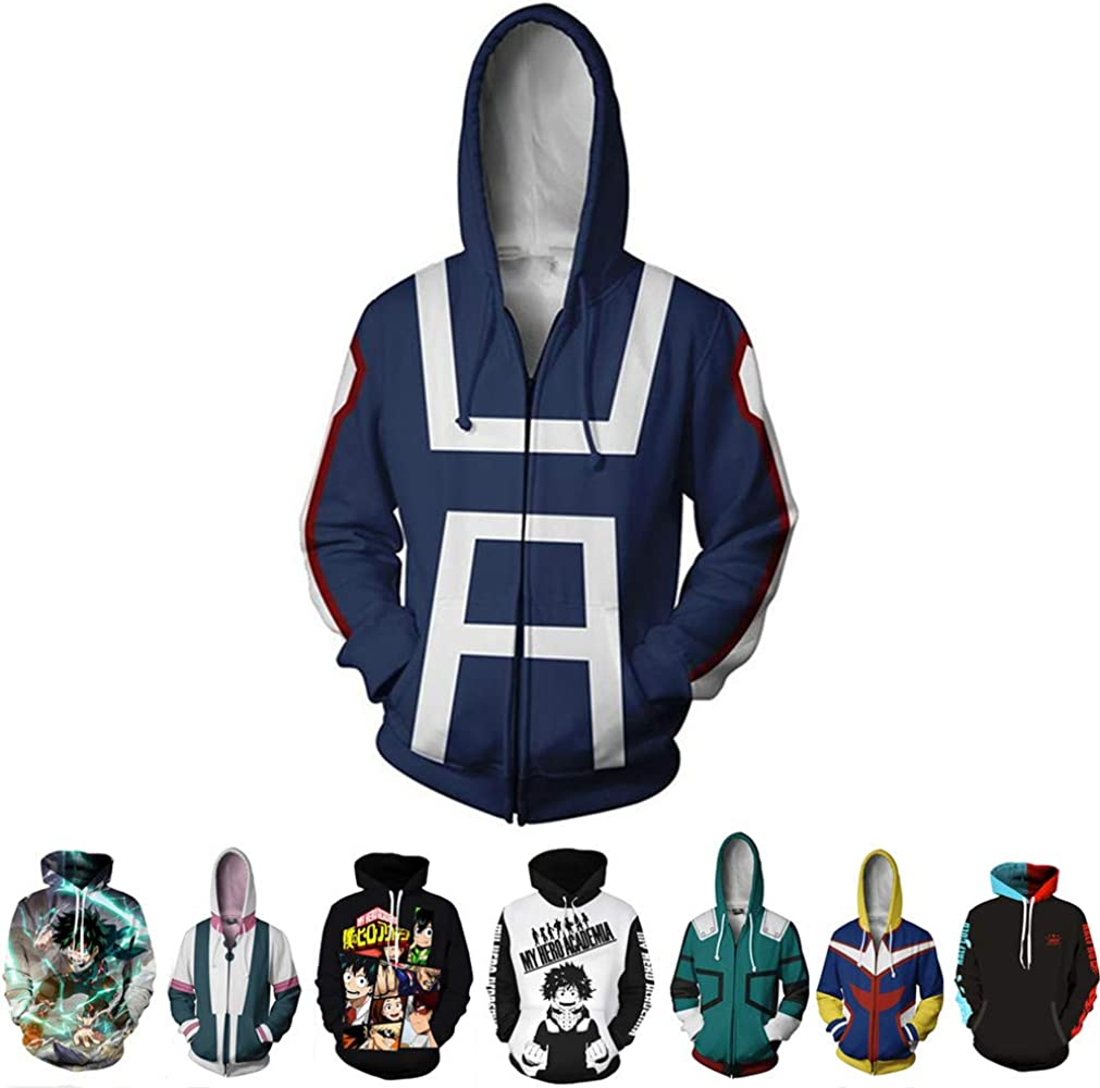 Anime My Hero Academia Hoodie Casual clothes Set head Coat Cosplay Costume