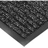 "NoTrax T39 Bristol Ridge Scraper Carpet Mat, for Wet and Dry Areas, 2' Width x 3' Length x 3/8"" Thickness, Midnight"