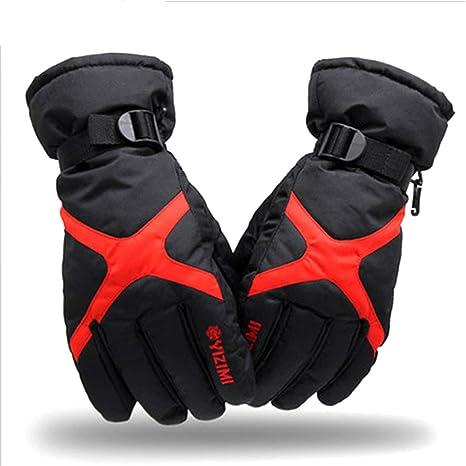 d76d786859 RUNATURE Guanti da Sci Uomo Donna Guanti Ciclismo Termici Impermeabile  Invernali Guanti da Sport Snowboard Invernale Guanti Antivento da Bici