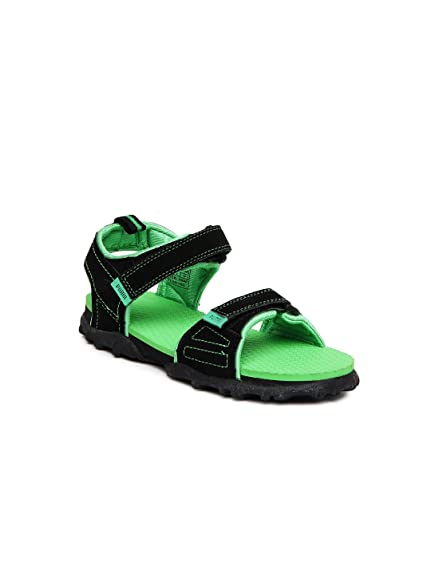 a3fc395b28c1 Puma Men s Black and Poison Green Sandals and Floaters - 11 UK India(46EU)  Buy  Online at Low Prices in India - Amazon.in
