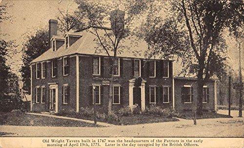Postcard Boston (Boston Massachusetts Old Wright Tavern Street View Antique Postcard K92711)
