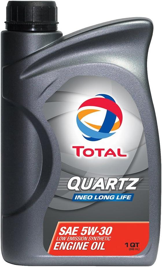 TOTAL 188057-12PK Quartz INEO Long Life 5W-30 Engine Oil - 1 Quart (Pack of 12)