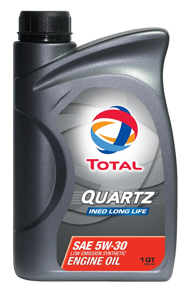 TOTAL 188057-12PK Quartz INEO Long Life 5W-30 Engine Oil - 1 Quart (Pack of 12) by Total