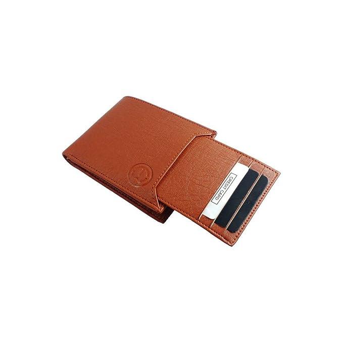 TnW Men Faux Leather Wallet 7 Card Slots   TAN  Men's Wallets